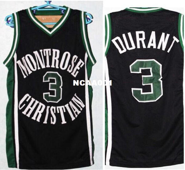 super popular ce937 0f7a6 2019 Men MONTROSE CHRISTIAN #3 K. DURANT WHITE GREEN BLACK College Jersey  Size S 4XL Or Custom Any Name Or Number Jersey From Ncaa001, $16.45 | ...