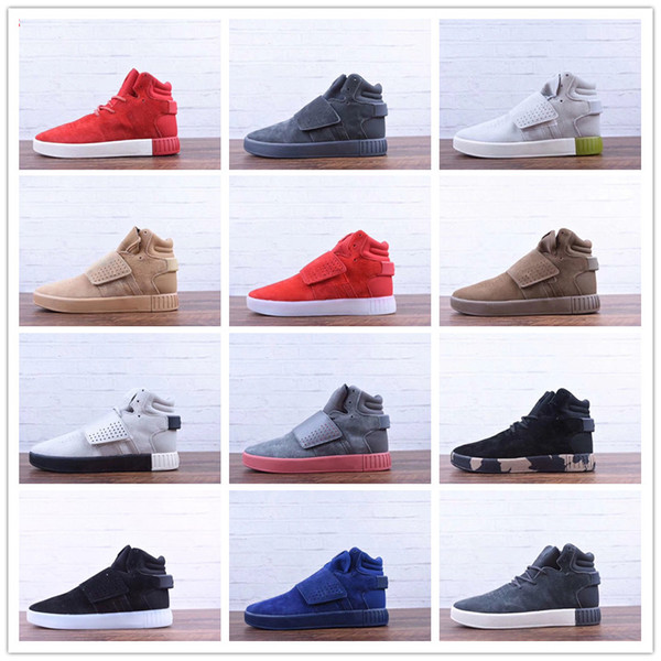 2018 New Winter Tubular Invader Strap Kanye West 750 Running Shoes for High quality 750s triple s Men Fashion Outdoors Sneakers Size 40-45