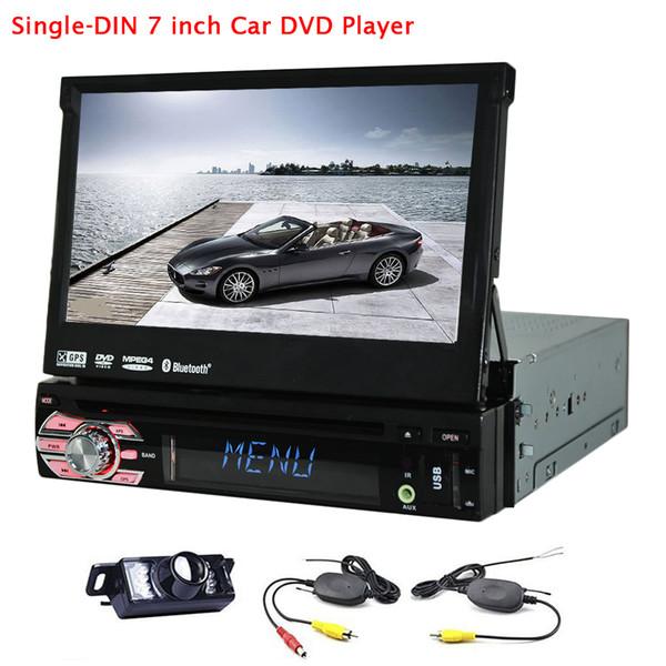 1 din Car DVD Player Car Stereo Audio Electronics Autoradio MP4 Aux Windows 6.0 7'' Universa Bluetooth Rear Camera USB/SD/TF