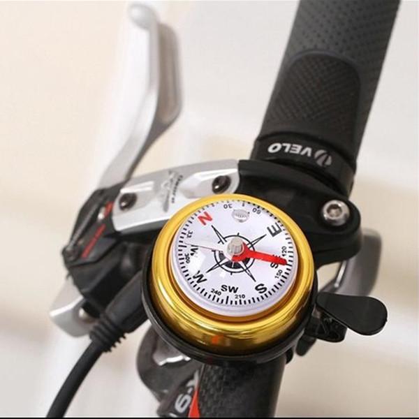 Q027 Venda Quente Montanha Bicicleta Bicicleta Bússola Sino Ciclismo Guidão Da Liga de Alumínio À Prova D 'Água Anel Chifre Esporte Ciclismo Alarme