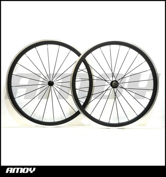 Alloy braking surface 700c 38mm Carbon Fiber Clincher Road Bike Bicycle Wheels with Novatec Hubs Cycling wheelset