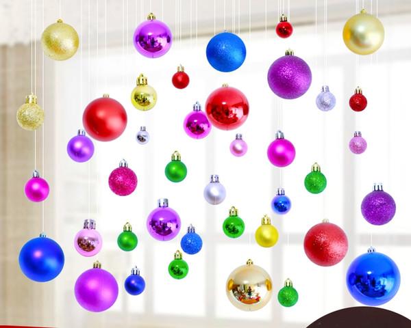 8 colori albero di natale decorazione palla appesa ornamento uso interno esterno opaco lucido argento dorato blu viola palla