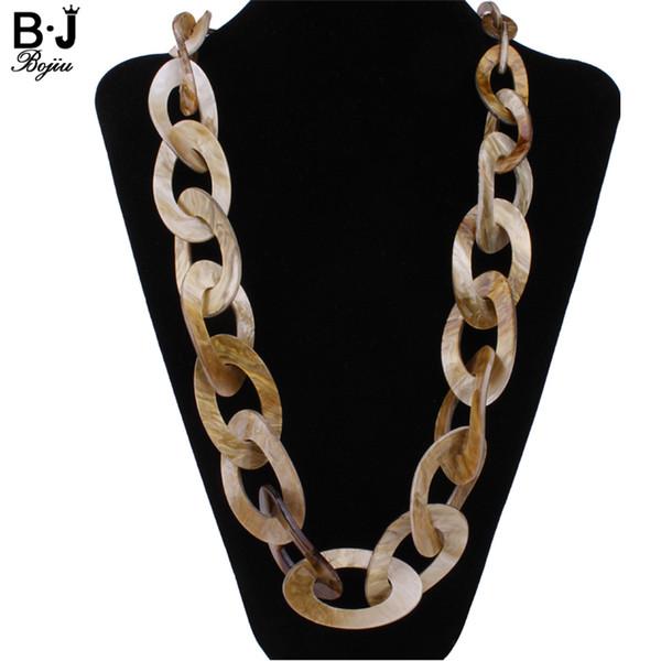 Collier en plastique rond de bijoux long collier couleurs nouvelle 2017 bijoux en acrylique de qualité de la mode
