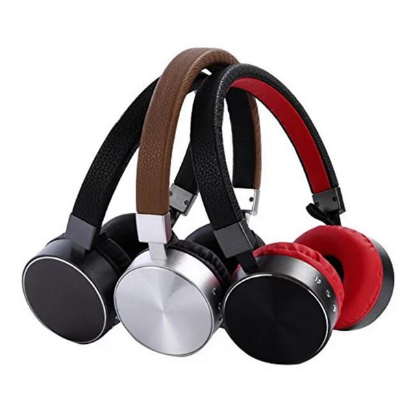 Metal Bluetooth Headphone for Sport Game Headset for Media Music Bluetooth Wireless Wired Headband with Microphone 3 Colos Optional