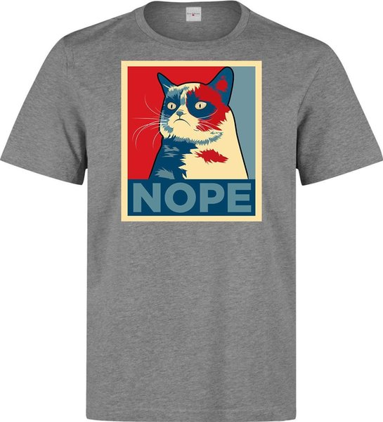 t shirt black Grumpy Cat Nope Obama Style Hater/'s men/'s woman/'s available