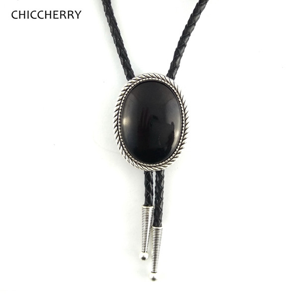 collier homme cuir indien