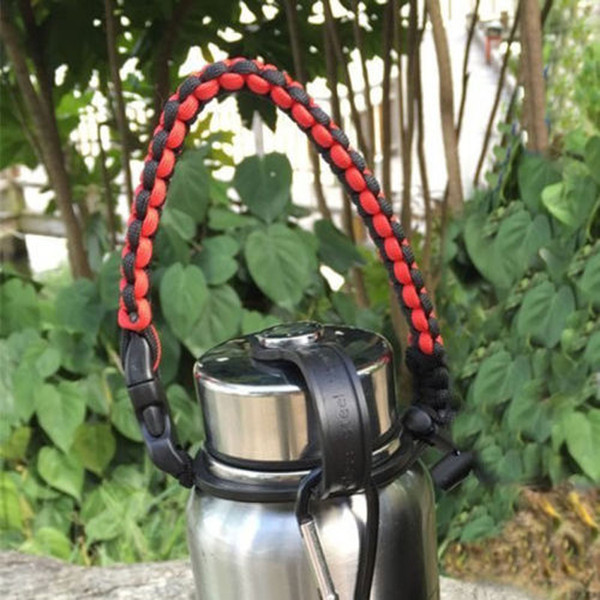 18oz to 64oz handmade Bottle Cover Bag paracord Cup handle outdoor survival fashion paracord cup handle free shipping
