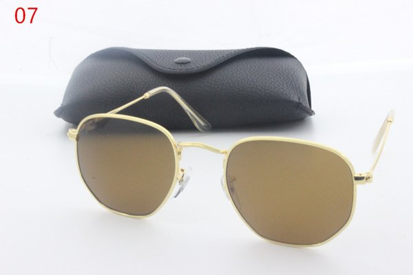 2019 new aluminum alloy frame glass lens unisex fashion sunglasses brand designer Vintage Sport radiation glasses