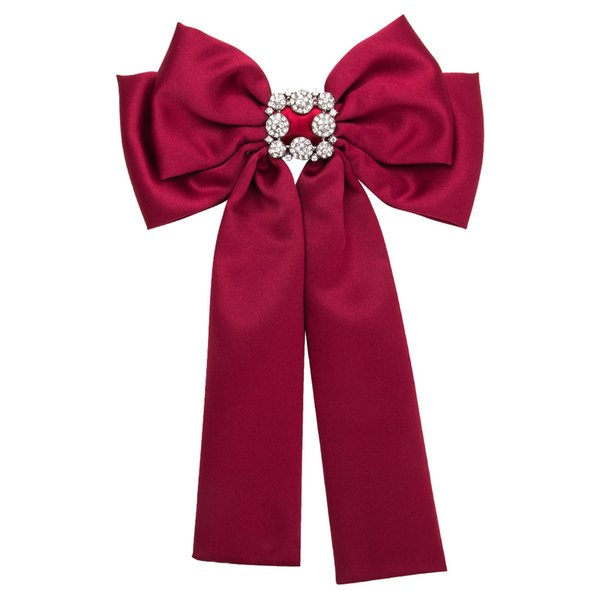 New European Flower Crystal Bow Ties Canvas Bowknot Ribbon Pins Cotton Fabric Bowties for Women Party Wedding Men Duftgold