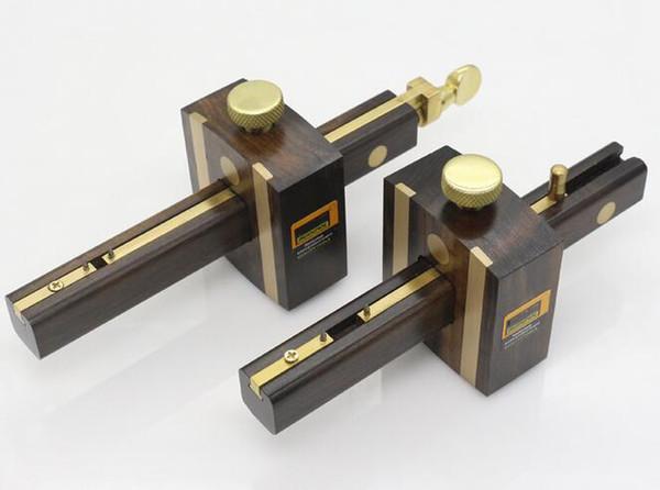 top popular 8 Inch Screw Cutting Gauge Mark Scraper Scribers Luxury British Indonesia Ebony+Pure Copper Wearproof Carpenter Woodworking Tool 2021