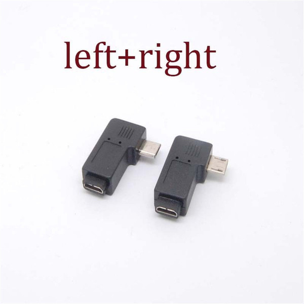 90 Degree Micro USB B Male to Female Plug Adapters charger Left &Right Angle Cell Phone Adapters