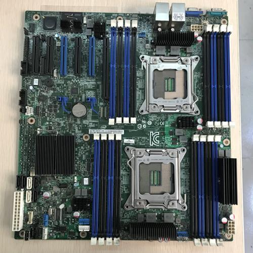top popular For Inter S2600CP X79 Dual LGA 2011 Server Motherboard DDR3 Support E5-2680V2 Cpu 2019