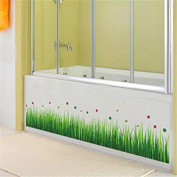 Fresh Green Grass Wall Stickers kids living Room bedroom Bathroom Kitchen nursery balcony Home Decor Art Wall Sticker