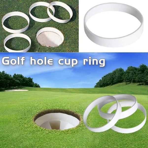 1 Stücke Kunststoff Golf Putting Green Loch Cup Ring Outdoor Golf Trainingshilfe Werkzeug Zubehör für Golfer 108mm Durchmesser
