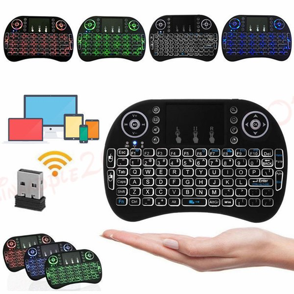 bdd39adcda3 Mini i8 Keyboard Backlit For Android TV Box Remote Control 2.4G Wireless  Keyboard With Touch