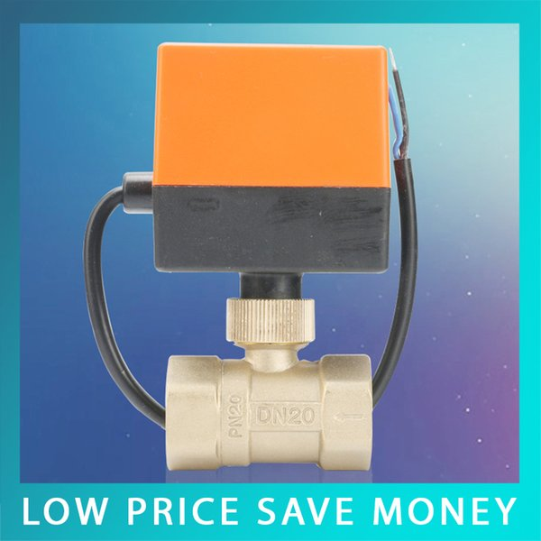 best selling High Quality 220V Hot Water 2 Way Brass Motorized Ball Valve