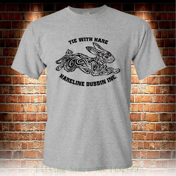 Hareline Dubbin Tie With Hare Custom Grey T Shirt Men's Tshirt S To 3xl Summer Style Hip Hop Men T shirt Tops