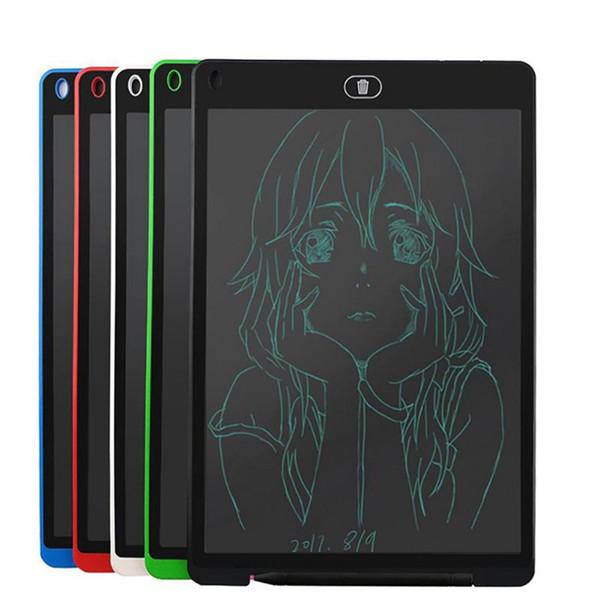 12 pulgadas LCD Escritura Tablet Touch Pad Oficina Tablero Electrónico Refrigerador Magnético Mensaje Stylus Niños Cumpleaños Día de Navidad Regalos 12 pulgadas