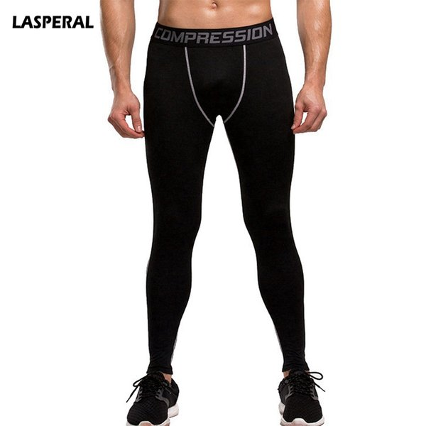 LASPERAL Fitness Men Running Tights 2018 High Elastic Compression Sports Leggings Quick Dry Training Pants Gym Socks Plus Sizes