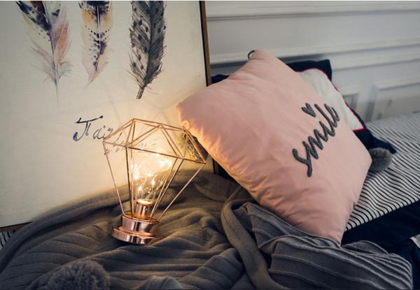 Night Lights Led Geometric Bulb Diamond Shape Night Stand Lamp Battery Operated Desk Lamp Warm White Home Decoration