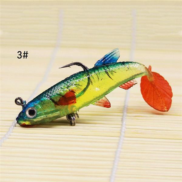 6 x Caoutchouc Leurres doux 8 cm Pêche Appât Tackle