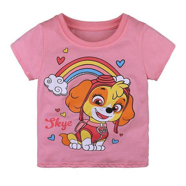 Girls Summer Clothes Kids Tee shirt pink short sleeve cartoon design Baby Girl T Shirt Children Clothes Cotton Girls Tops