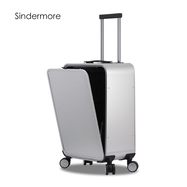 Sindermore 100  aluminum hard ide rolling travel luggage  uitca e 20 quot  carry on luggage cabin trolley  uitca e aluminum