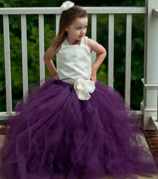 2018 New Charming Flower Girl Dresses Ball Gown Pincess Pageant Kids Wedding Party Dress Children Dress Special Occasion Dress GHTZ268
