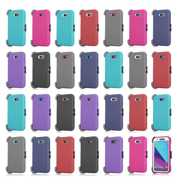 Clip cas armure de robot + protecteur d'écran pour iPhone 6 7 8 X XS Max XR Samsung S8 S9 Plus Note 9 J3 Prime 2017 J7 2018 J2 Core S10 Lite