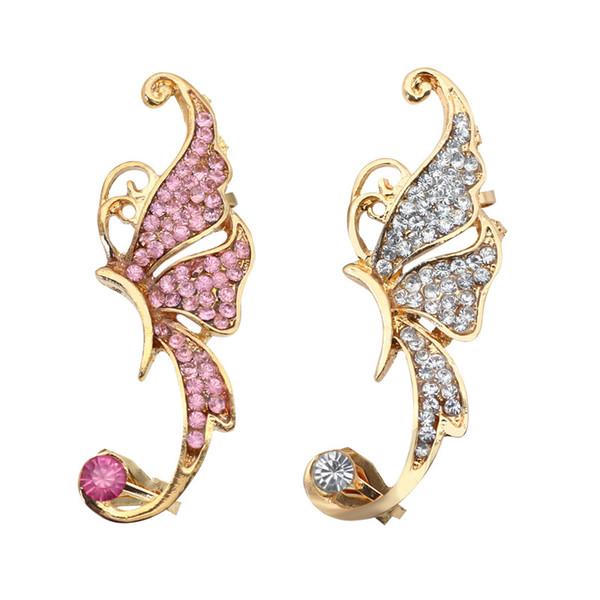 Completo di orecchini a forma di farfalla con elfo Orecchino Non orecchini a clip con piercing orecchini pendenti orecchini gioiello 170138