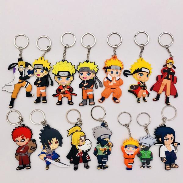 Toptan Comics Naruto Anahtarlık Karikatür Karakter 3D Çift Yan Anahtarlık PVC Anime Figürü Anahtarlık Çocuklar Oyuncak Kolye Anahtarlık Biblo