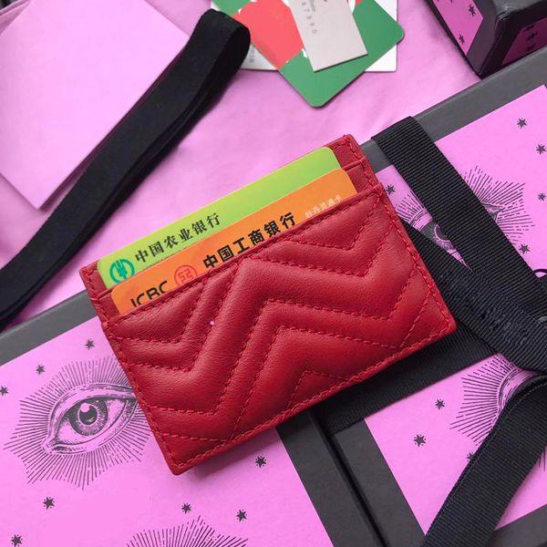 Titolare della carta di alta qualità Logo designer donne portafogli in pelle vera pelle portafoglio portafoglio di lusso per gli uomini con scatola di vaso