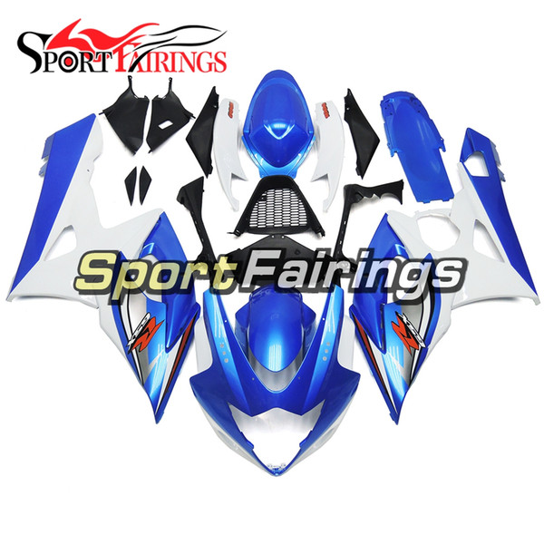 Motorcycles Blue White Complete Fairings For Suzuki GSXR1000 K5 Year 2005 2006 ABS Plastics Injection Sportbike Body Kit Customzie Cowlings