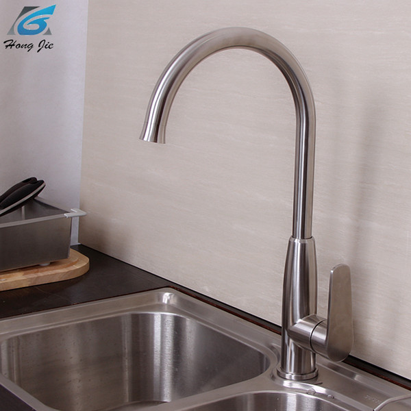 2019 Contemporary Kitchen Faucet Hot And Cold Mixer Water Tap Deck Mounted Rotate Stainless Steel Basin Sinks Tap Bathroom Faucets From Kariok