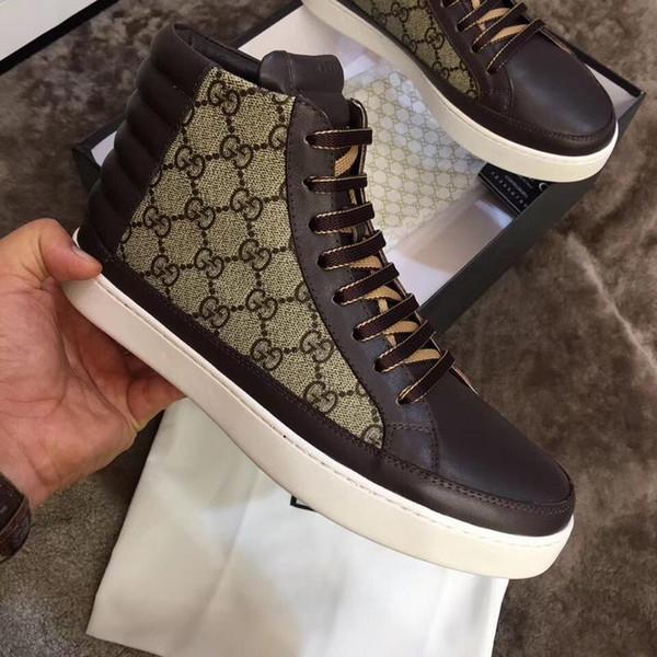 Beste Designer Handmade Luxus Herren Lederstiefel Sneaker Schuhe Frankreich Strass Herren Flache Stiefel Leder Sneaker Schuhe für Männer Größe 38-44