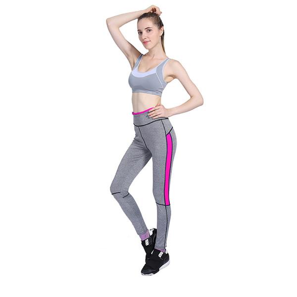 Леди Activewear розовый леггинсы весна лето светло-серый брюки осень высокой талией леггинсы 1208 американский оригинальный заказ