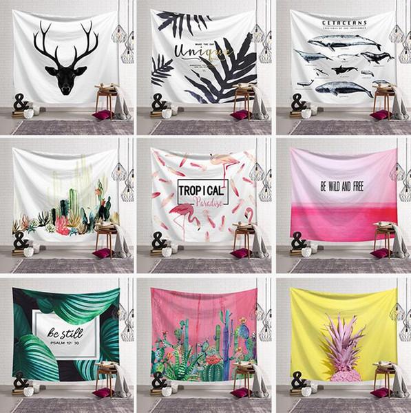 Tapestry Wall Hanging Beach Coperta Tenda Da Campeggio Viaggio Sleeping Pad Tiro Tappeto Copriletto Cactus Home Decor 28 Disegni YW1263