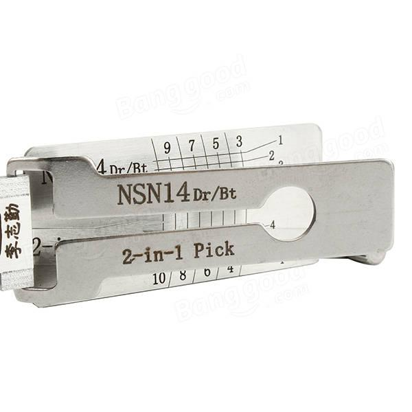Original LISHI 2 in 1 Nissan NSN14 pick/decoder LOCKSMITH TOOLS Lock Pick set, auto door opener