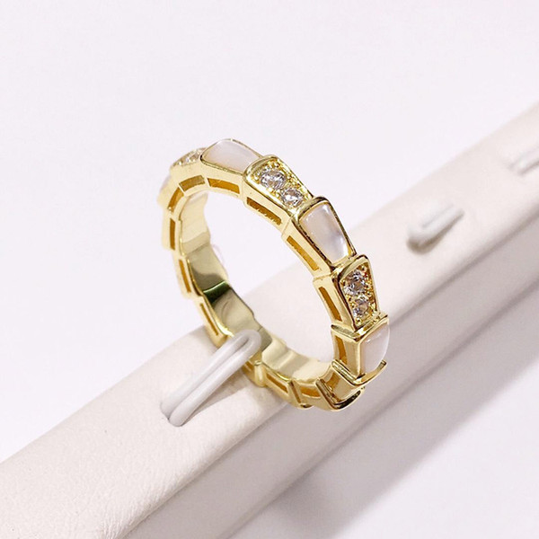 High quality new fashion stainless steel ring 18K gold rose silver white shell ring for trend people and couples gifts
