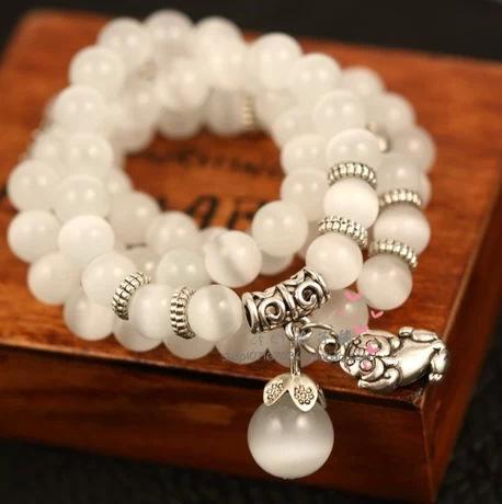 Korean Bracelet String Of Beads Accessories Restore Ancient Ways How About Circle Cat's-eye Ball Pendant Bracelet Ornaments