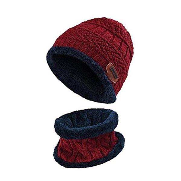 Children Crochet Hat Fur Woolen Knit Beanie Raccoon Warm Caps+Scarf Shawl Suit Winter Wool Ski Beanie Skull Caps Hat Hats