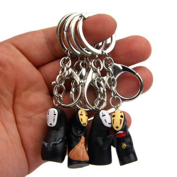 Random Cute No Face Man Creative Key Chain For Men Women Car Bag Keyring Korean Couple Bag Pendant Keychain