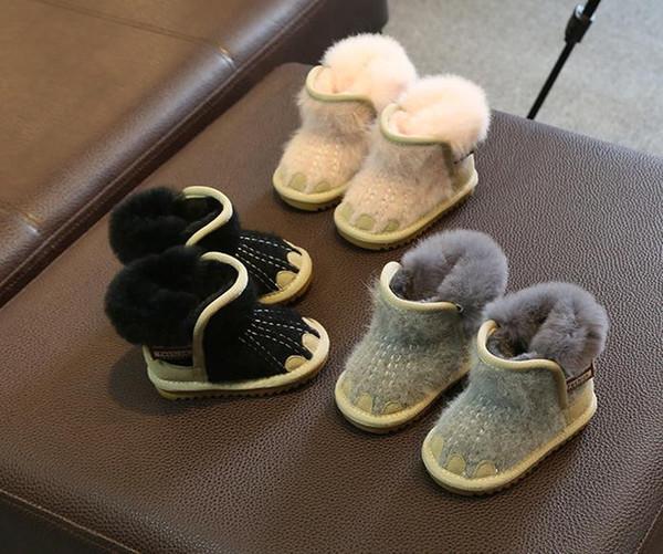 Baby Kinder Echt Leder Stiefel Boots Schnee Stiefel
