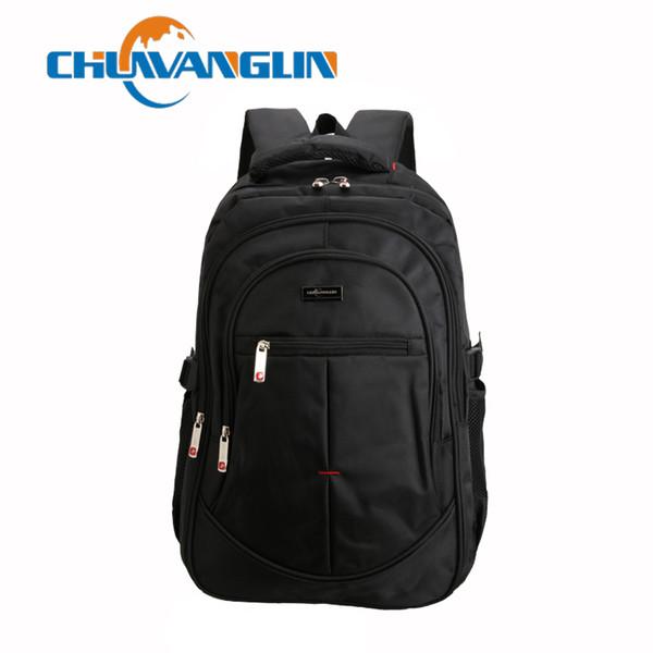 Chuwanglin Men and Women Laptop Backpack Rucksack SchooL Bag Travel waterproof Backpack Male Notebook Computer Bag black ZDD4193