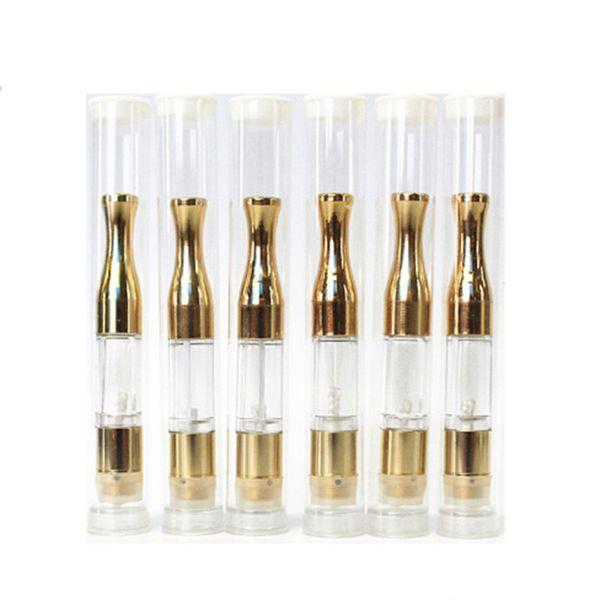 Gold round Metal drip tips G2 BUD Touch 510 Cartridges WAX Thick Oil Vaporizer Atomizers CE3 O Pen vapor Mini cartomizers vape tank
