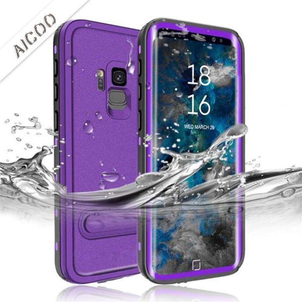 Drop Resistant IP68 Waterproof Full Sealed Underwater Phone Cover Shockproof Outdoor Sports Case For Samsung Note 9 8 S9 S8 plus Retailpack
