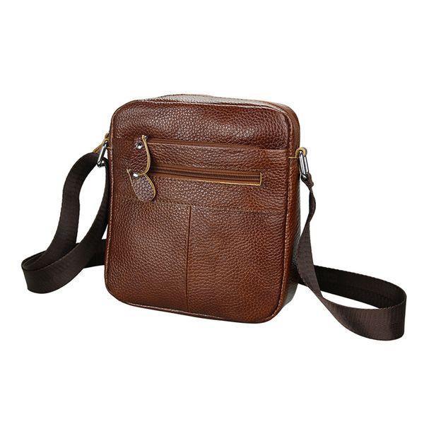 Men Business Messenger Bag Black Leather Crossbody Bag for Men Genuine Leather Single Shoulder Bags