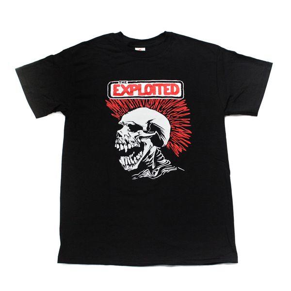O Exército Punk Banda Gráfica T-shirt Soltas Homens Negros T camisas Homme Tees Homens T Camisa de Impressão De Algodão