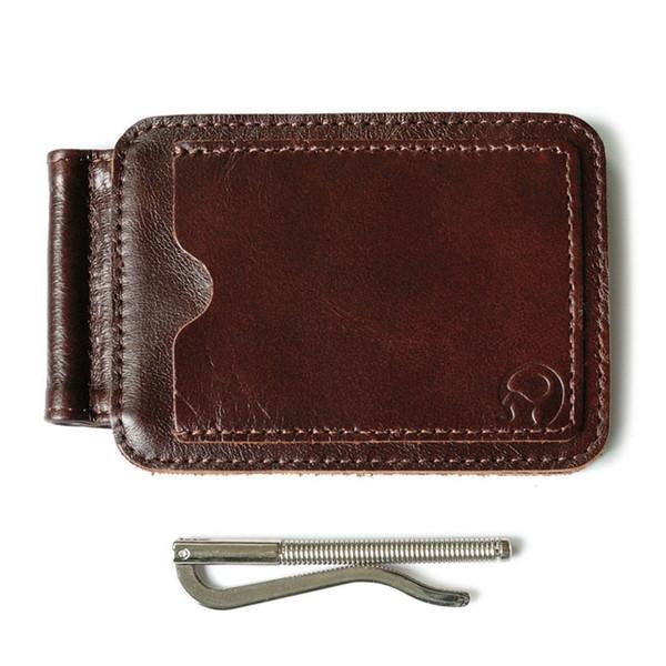 Brand New Vintage Casual Brieftasche Cash Dollar Geld Clips Wallet Clip offene Klemmen Echtleder MenWomen Unisex