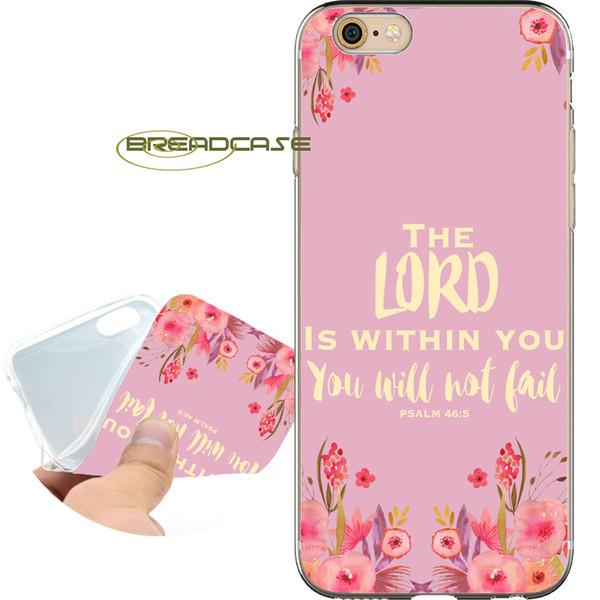 Bible Qutoes Verse Croyance Dieu Coque Cases pour iPhone 10 X 7 8 6S 6 Plus 5S 5 SE 5C 4S 4 iPod Touch 6 5 Couverture souple en silicone souple TPU.